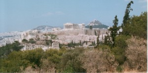 View of the Athenian Acropolis